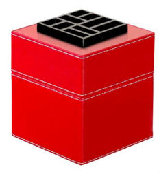 EasyScent Lampe Berger a Pile - Cubo Cuir Red