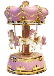 Giostra Golden Pink Horses